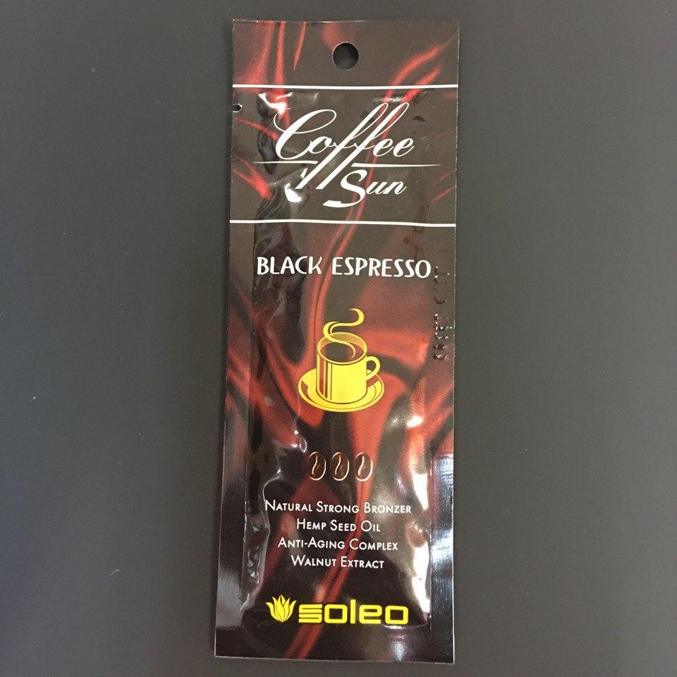 """крем для солярия """"SOLEO"""" Black espresso Максимальный натуральный бронзатор 15ml"""