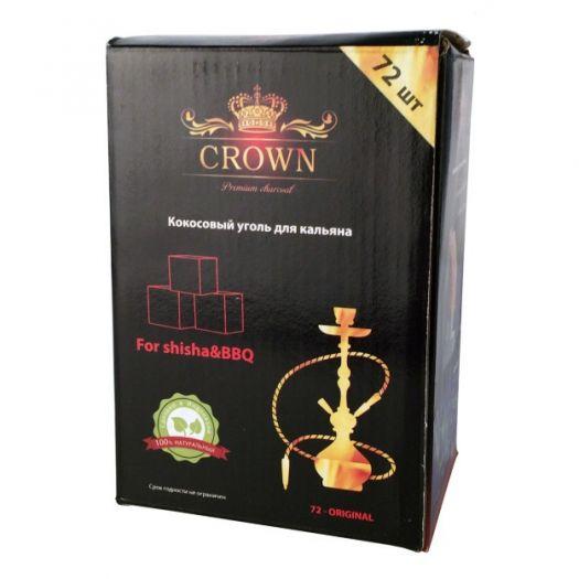 Уголь Натуральный Кокосовый Crown 72 шт