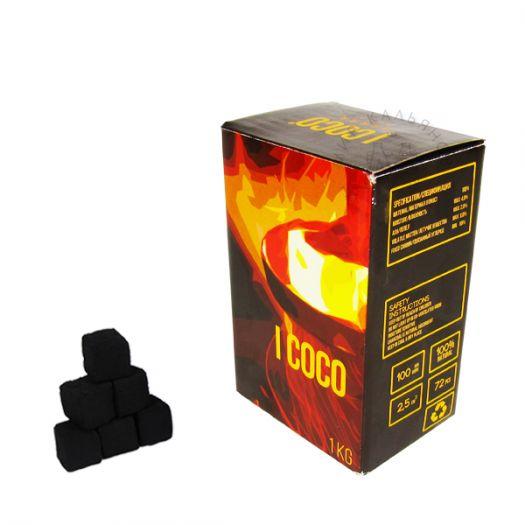 Уголь Натуральный Кокосовый Icoco 72 шт