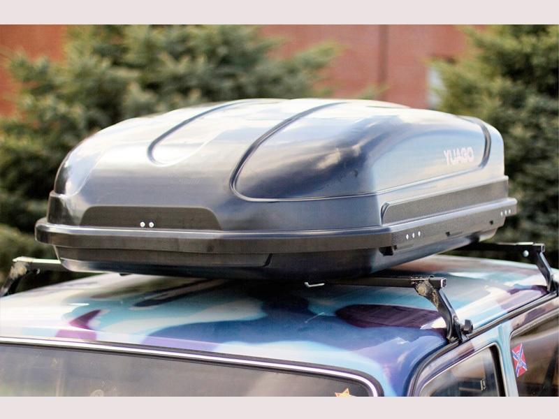 Автомобильный бокс на крышу Pragmatic EURO, 410 литров, черный матовый