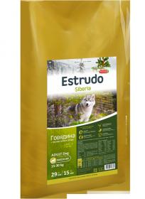 Estrudo Siberia (Говядина + лесные травы) для взрослых собак средних пород, 13 кг