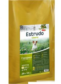 Estrudo Siberia (Говядина + лесные травы) для взрослых собак мелких пород, 10 кг