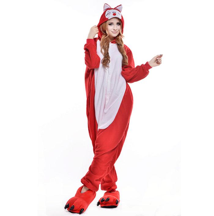 Пижама Кигуруми Лиса Красная Премиум