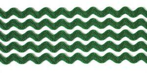 `Тесьма вьюнчик, ширина 5 мм, цвет: темно-зеленый