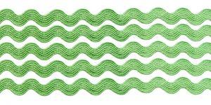 `Тесьма вьюнчик, ширина 5 мм, цвет: зеленый