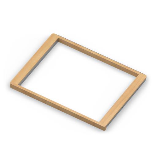 Рамка для корзин с доводчиком, светлый декор, серия 460, L=607, металлик
