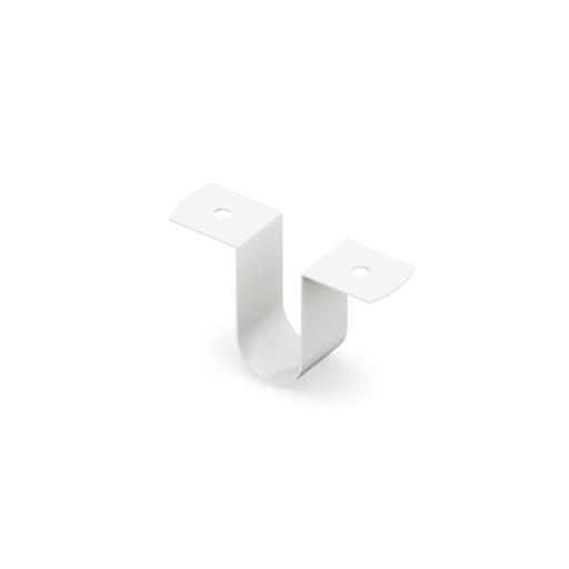 Скоба соединительная для полок ЛДСП  (6 шт.+12 шурупов в комплекте), белый