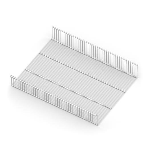 Полка - корзина проволочная,  серия 460, L=607, белый