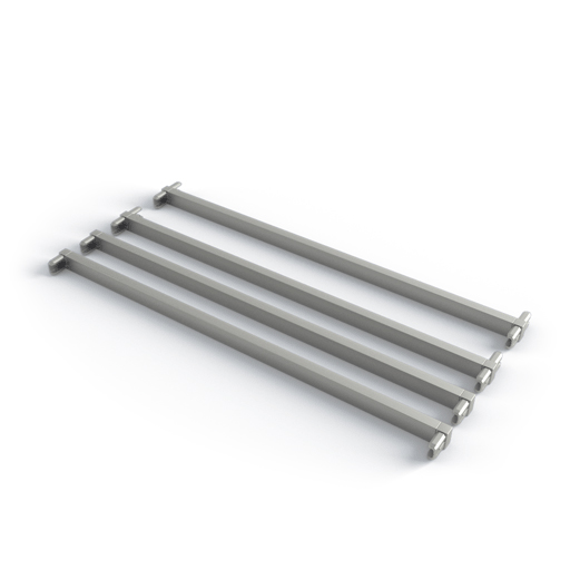 Поперечина стеллажа, T+L обр.  (2 шт + 2 шт в комплекте), L=450, металлик