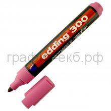 Маркер перм.розовый 300/09 Edding