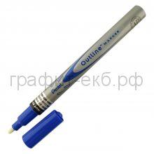 Маркер декор.Pentel Outline синий/серебро MSP60-ZC