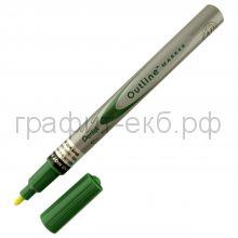 Маркер декор.Pentel Outline зеленый/серебро MSP60-ZD