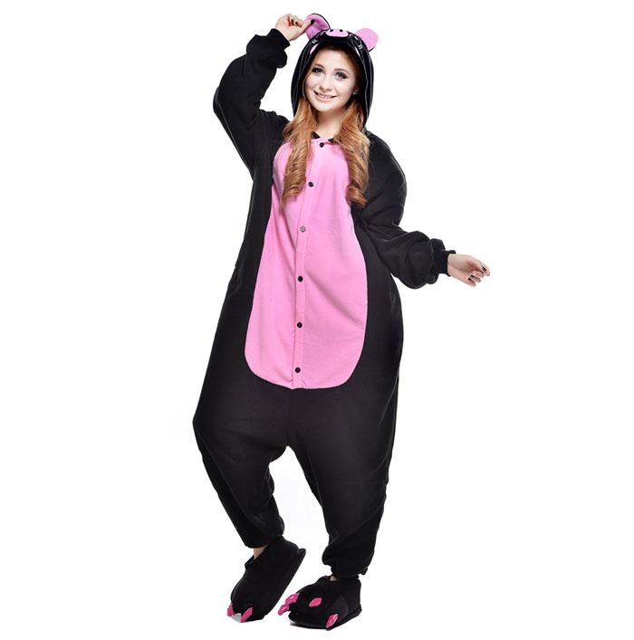 Пижама Кигуруми Свинка Черная Премиум