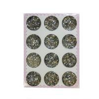 Конфетти блестки серебро, набор 12 шт