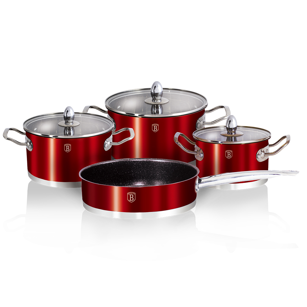 Набор посуды 7пр Berlinger Haus ВН-1318 Metallic red Passion Collection