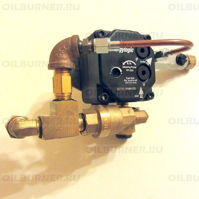 Насос топливный с фитингами EnergyLogic (EL-140, EL-200, EL-340) 14020155