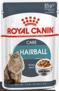 Royal Canin Hairball Care Полнорационный корм для взрослых кошек (мелкие кусочки в соусе) (85 г)