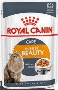 Royal Canin INTENSE BEAUTY Влажный корм для поддержания красоты шерсти кошек (в желе) (85 г)