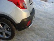 Защита заднего бампера ТСС, овал, нерж. сталь ф 75х42мм., а/м 4WD турбо
