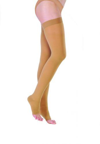 Чулки ИНТЕКС с гладкой силиконовой резинкой и открытым носком (1 класс компрессии)