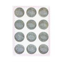 Песок для дизайна серебро, набор 12 шт