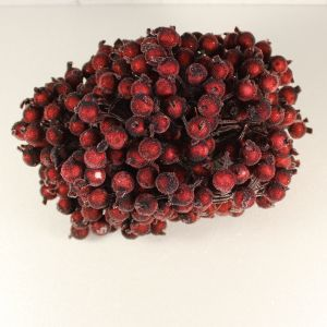 Ягоды в сахарной обсыпке 12 мм (длина 16см), цвет бордовый, 1 уп = 400 ягодок