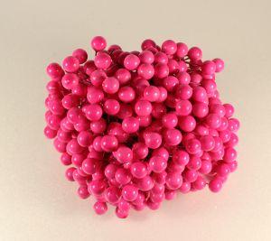 Ягоды 10 мм (длина 16см), цвет ярко-розовый, 1 уп = 400 ягодок