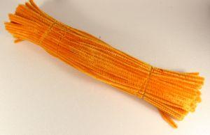 Синельная проволока 6мм х 300 мм, цвет оранжевый (1 уп = 95-105 шт)