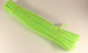 Синельная проволока 6мм х 300 мм, цвет зеленый кислотный (1 уп = 95-105 шт)