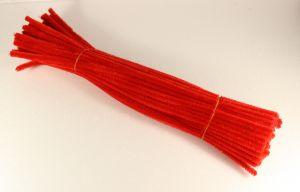 `Синельная проволока 6мм х 300 мм, цвет красный  (1 уп = 10 шт)