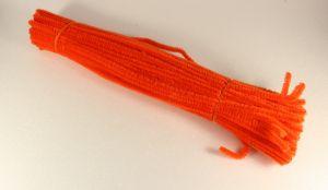`Синельная проволока 6мм х 300 мм, цвет оранжевый кислотный (1 уп = 10 шт)