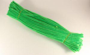 `Синельная проволока 6мм х 300 мм, цвет зеленый (1 уп = 10 шт)