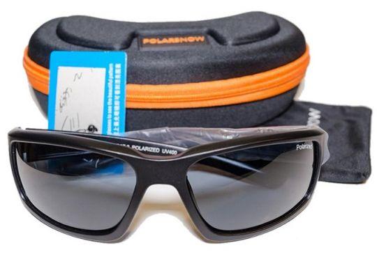 Очки POLARSNOW P8603 Bright Black/Gray (Black Case)