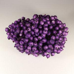 `Ягоды в сахарной обсыпке 12 мм (длина 16см), цвет - фиолетовый. 1 уп = 40 ягодок ( 20 веточек)