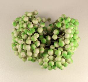 `Ягоды 10 мм (длина 16см), цвет бело-зеленый, 1 уп = 40 ягодок ( 20 веточек), Арт. Р-ЯГ0028-40