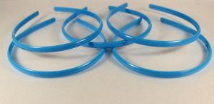 `Ободок, пластик, ширина 8мм цвет: светло-синий