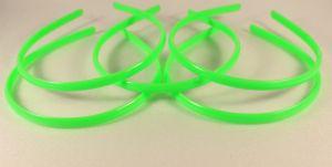 `Ободок, пластик, ширина 8мм цвет: зеленый