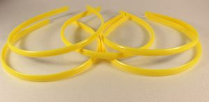 `Ободок, пластик, ширина 8мм цвет: желтый