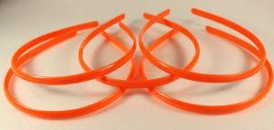 `Ободок, пластик, ширина 8мм цвет: оранжевый