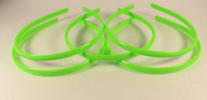 `Ободок, пластик, ширина 8мм цвет: зеленое яблоко