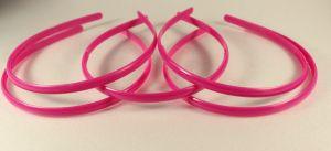 `Ободок, пластик, ширина 8мм цвет: ярко-розовый