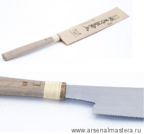 Пила столярная безобушковая Juntaro Mitsukawa 170мм продольная (Rip) Шаг зуба 0,9 мм Miki Tool М00012363
