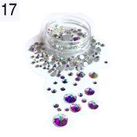 Стразы в баночке разноразмерные №17 кристаллы голография, 150 шт