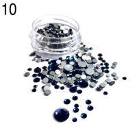Стразы в баночке разноразмерные №10 темно-синие, 150 шт