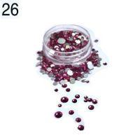 Стразы в баночке разноразмерные №26 ярко-розовые, 150 шт