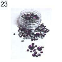 Стразы в баночке разноразмерные №23 фиолетовые, 150 шт