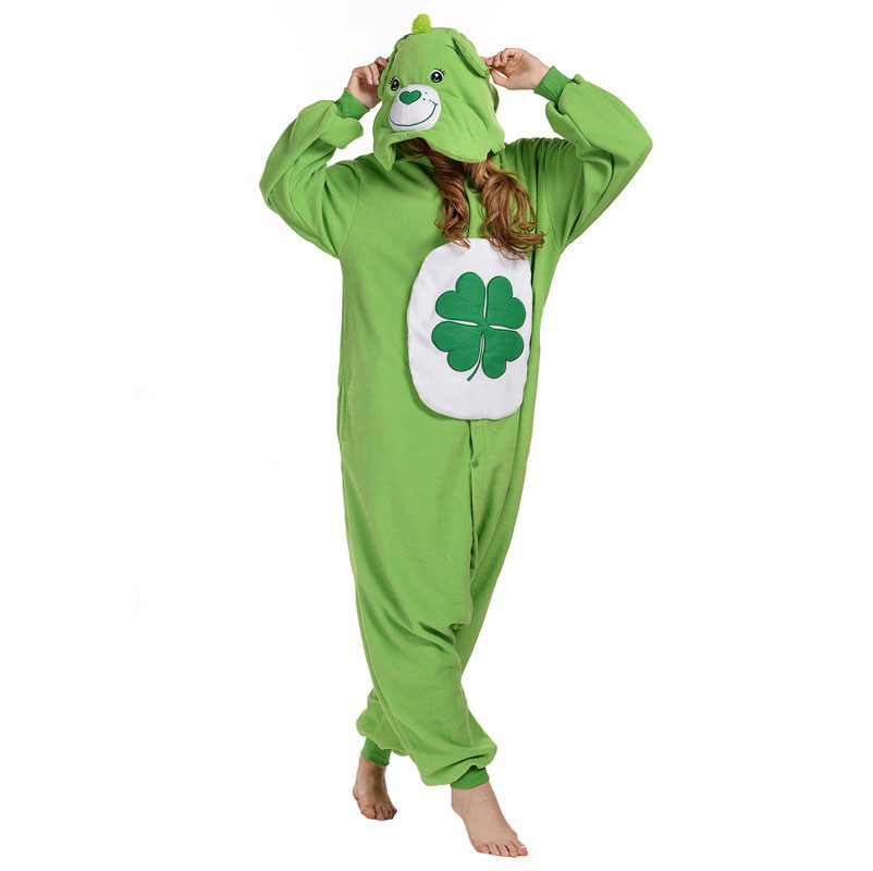 Пижама Кигуруми Медведь Зеленый_01