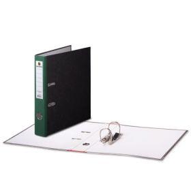 Папка-регистратор 50мм BRAUBERG мрамор зелёный корешок/30 220985