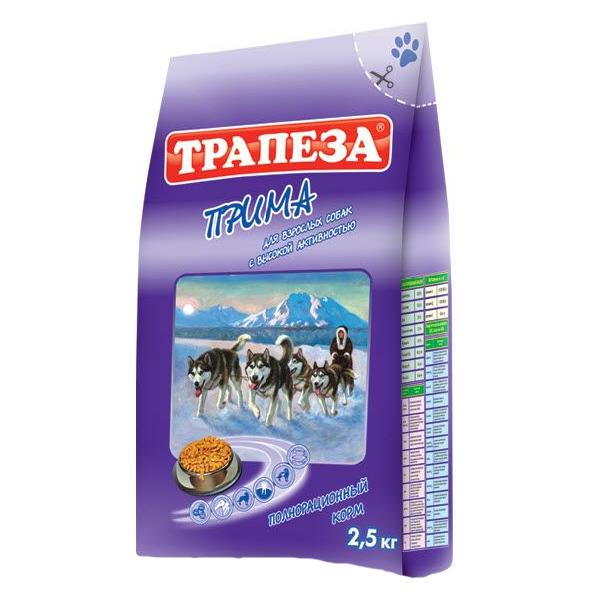 """Корм Трапеза """"Прима"""" с говядиной для активных собак 10кг"""