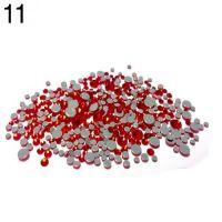 Стразы разноразмерные в пакетике №11 красный, 360 шт
